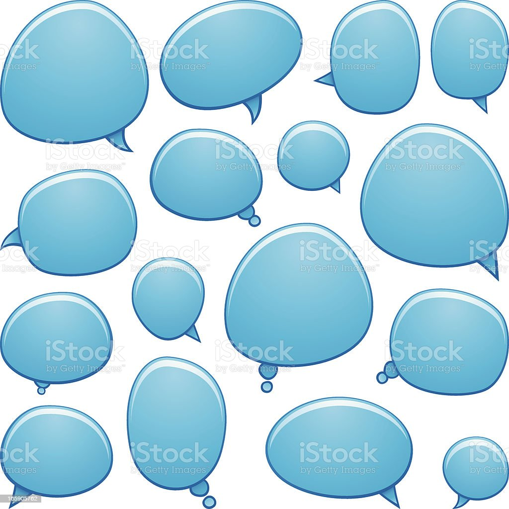 Glossy speech bubbles vector art illustration