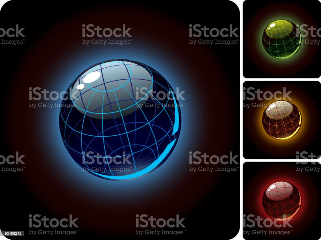 Glossy sphere royalty-free stock vector art