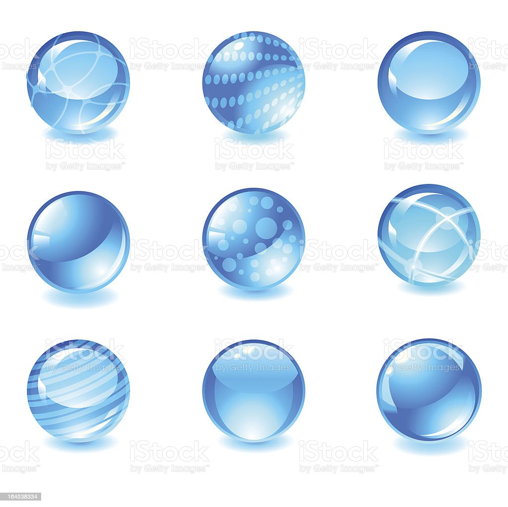 glossy spheres royalty-free stock vector art