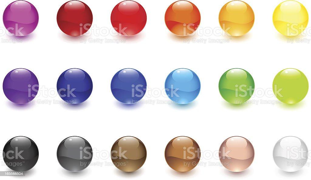 Glossy Spheres vector art illustration