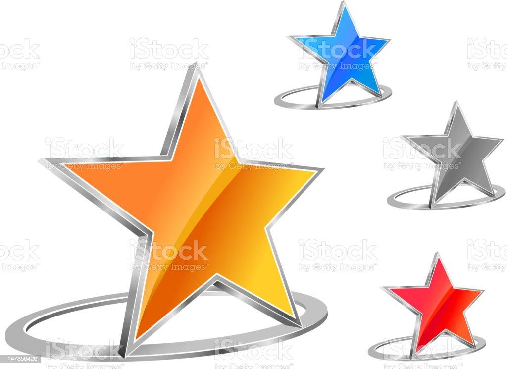 Glossy star icon royalty-free stock vector art