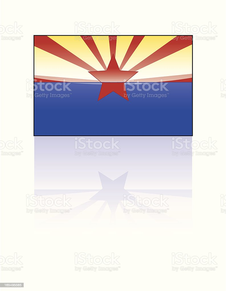 Glossy State Flag Series: Arizona royalty-free stock vector art