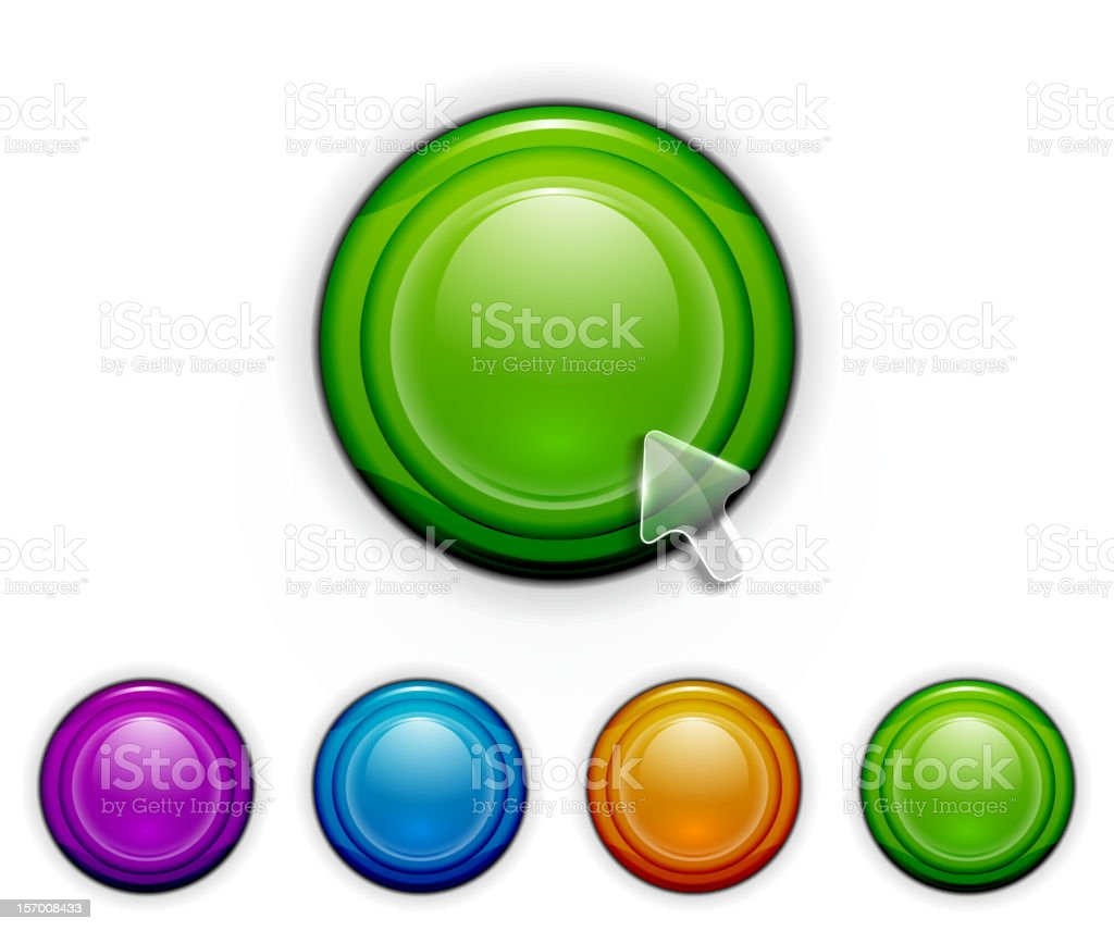 Glossy vector buttons royalty-free stock vector art