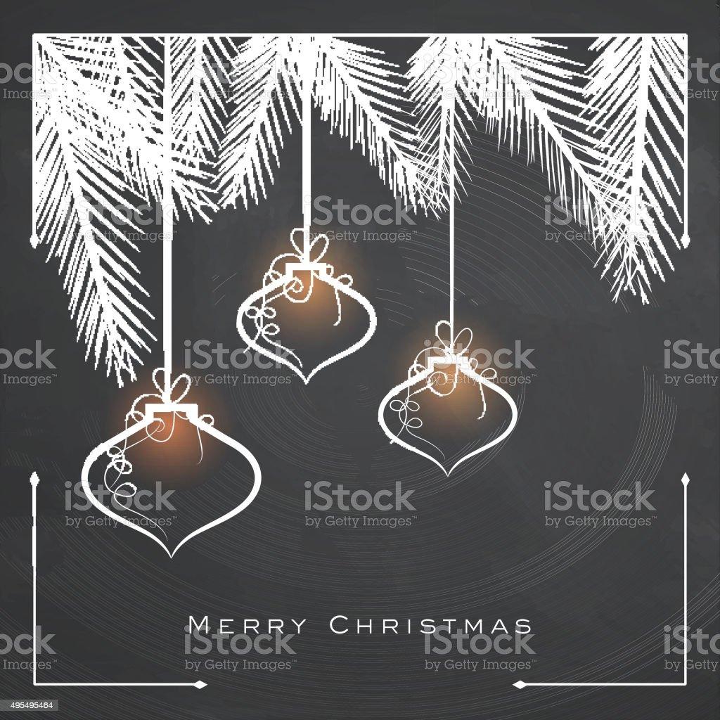 Glossy Xmas Balls for Merry Christmas. vector art illustration