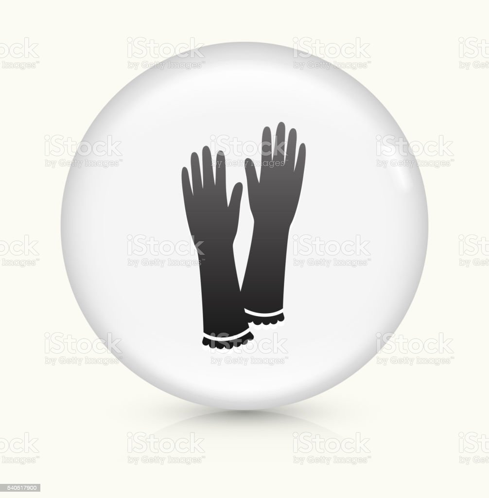Gloves icon on white round vector button vector art illustration