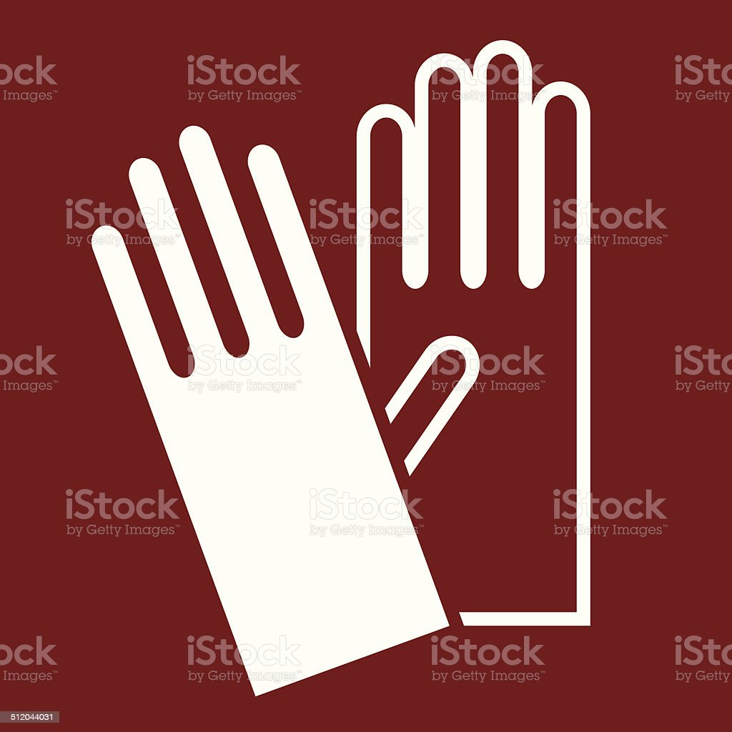 Gloves sign vector art illustration