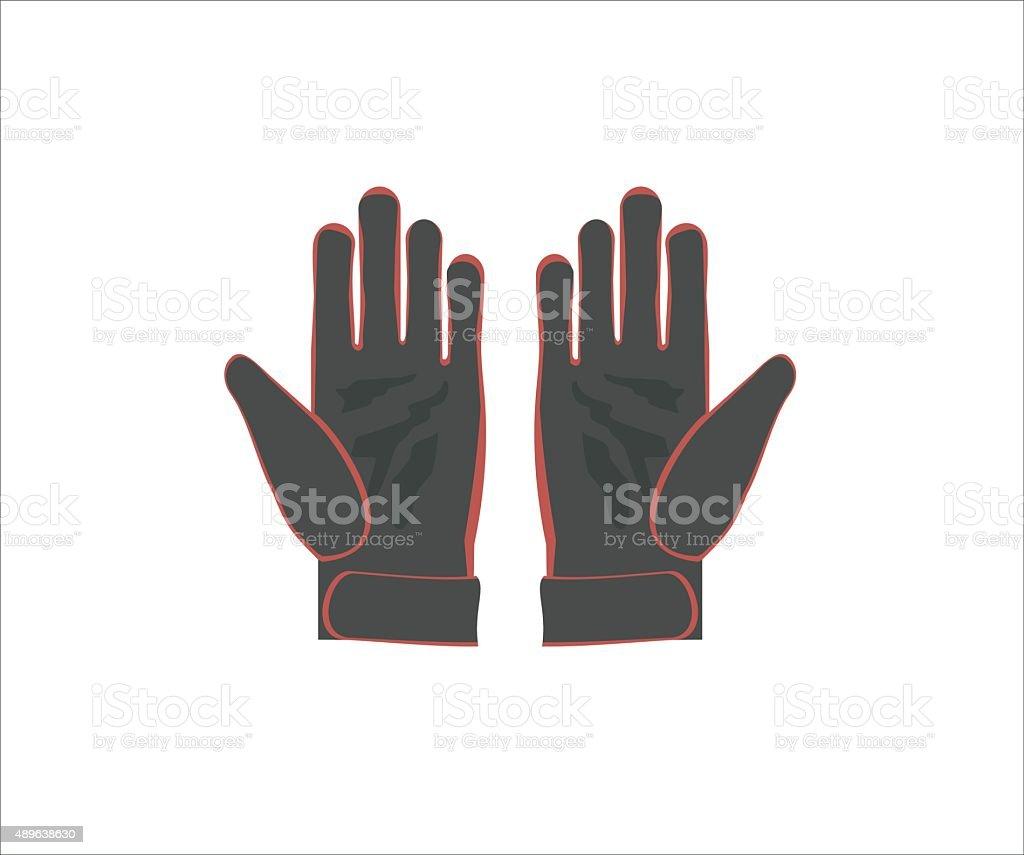 gloves simple illustration vector art illustration