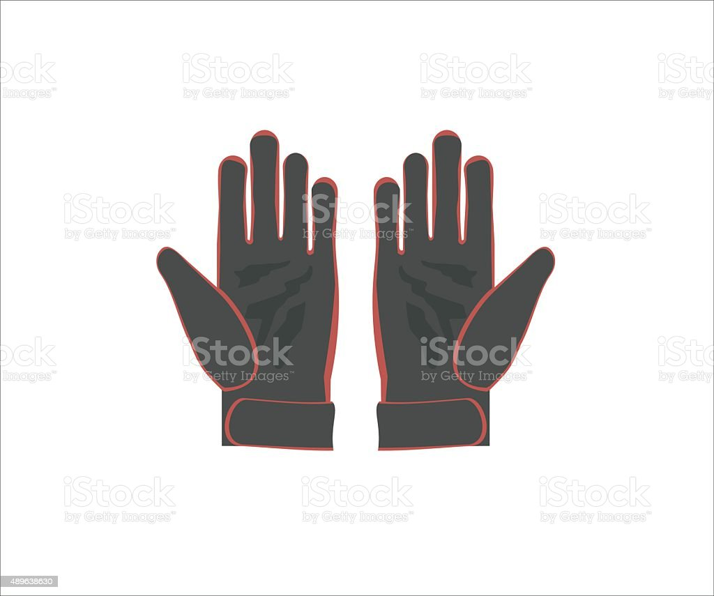 gloves simple illustration vector art illustration