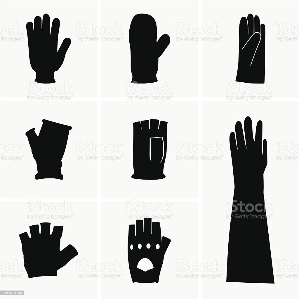 Gloves vector art illustration