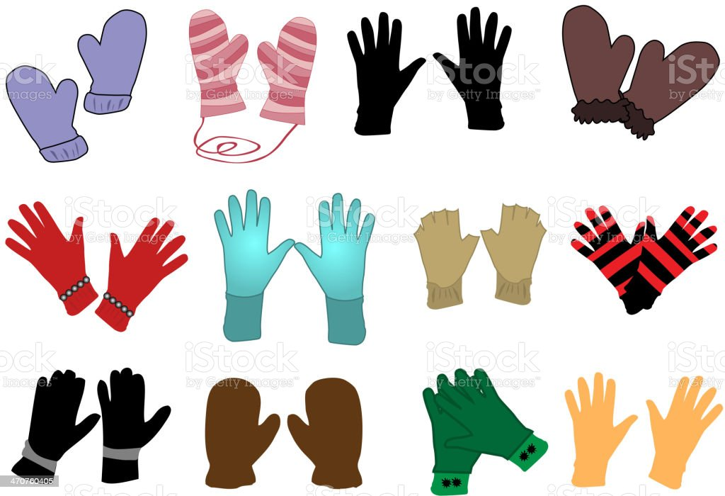 gloves -  Vector vector art illustration