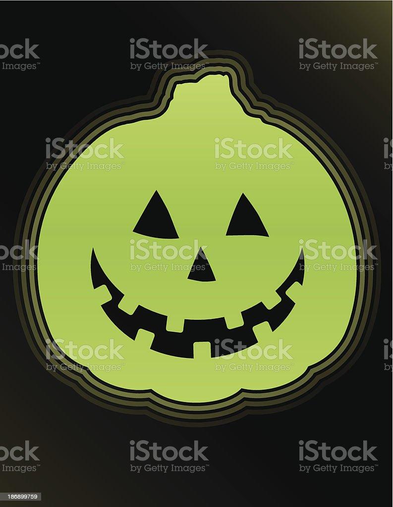 Glow in the Dark Pumpkin royalty-free stock vector art