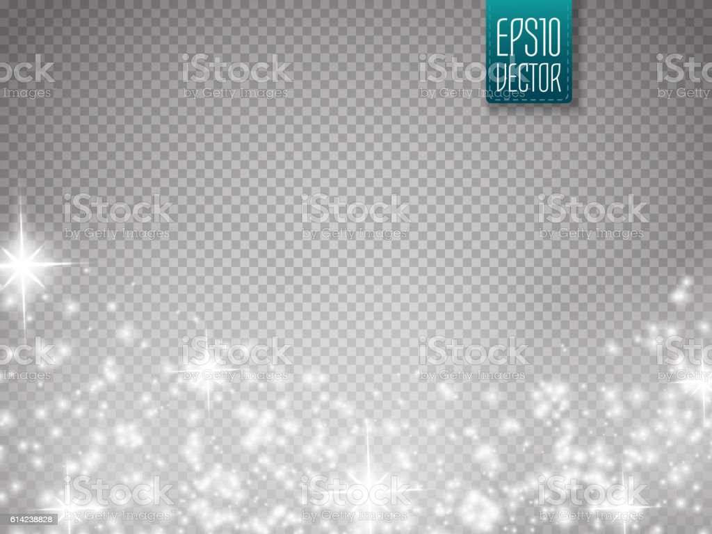 Glow special effect light, flare, star and burst. Isolated spark vector art illustration