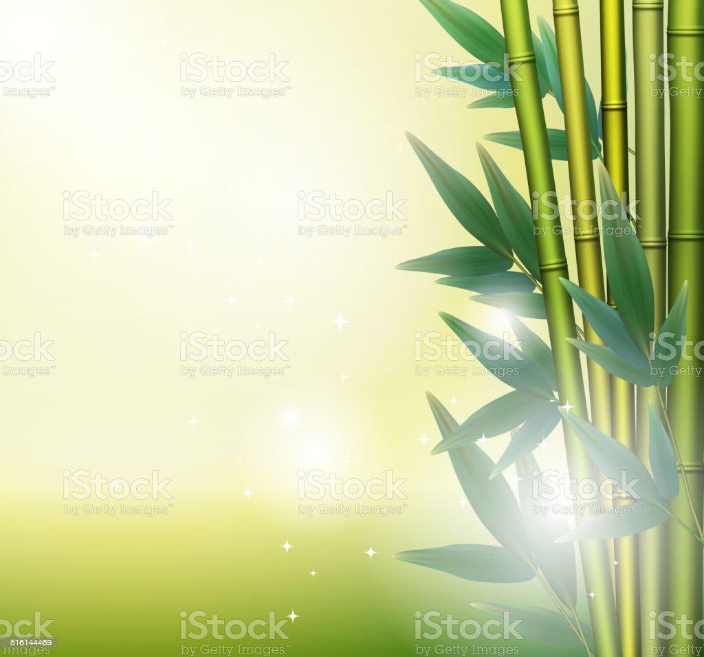 Glühend Bambushintergrund Vektorillustration Vektor Illustration ...