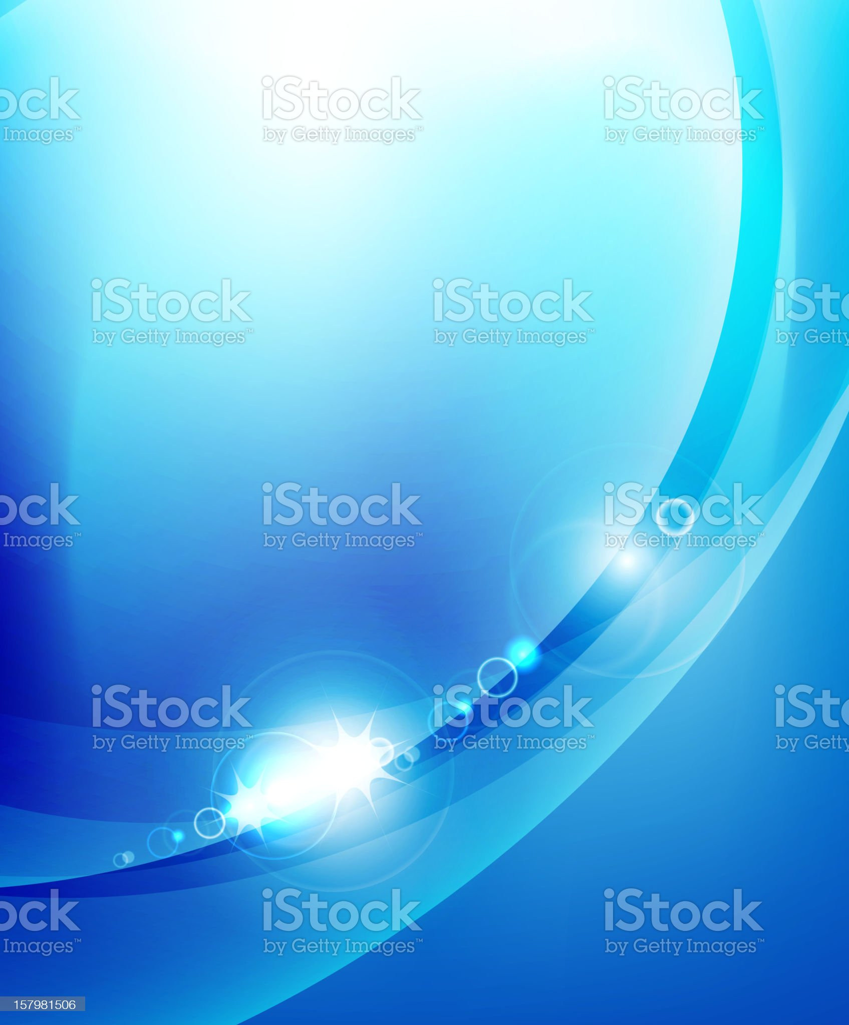 Glowing blue background royalty-free stock vector art