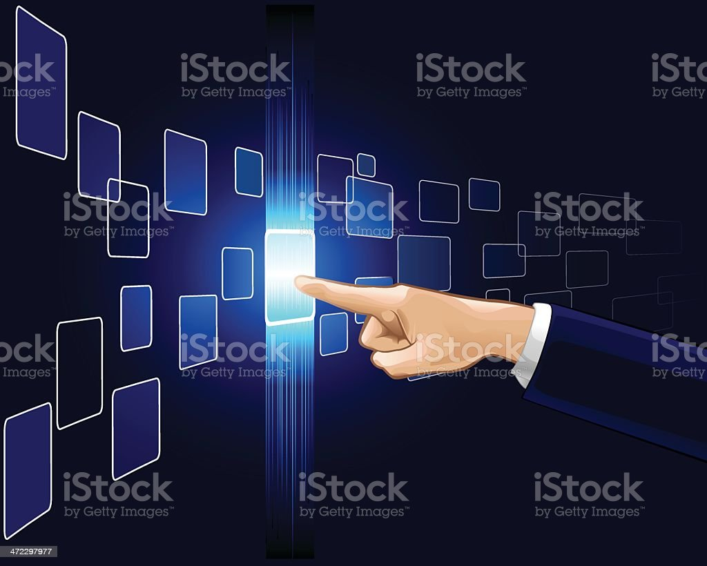 Glowing Button royalty-free stock vector art