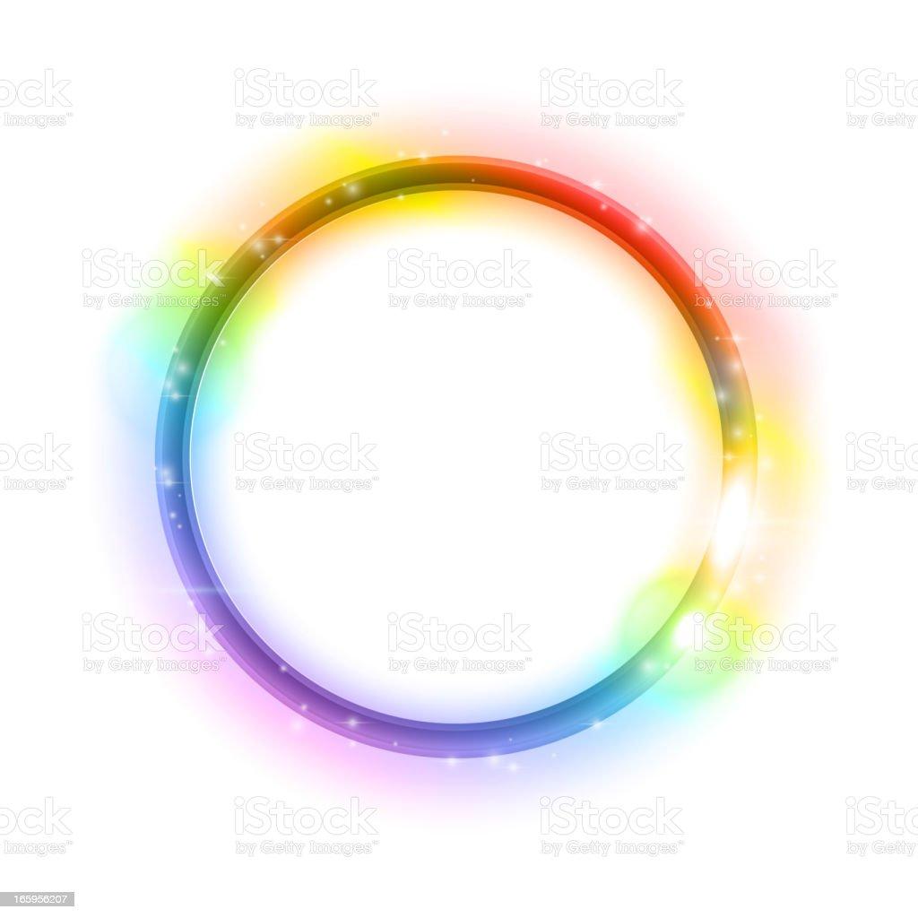 Glowing circle royalty-free stock vector art