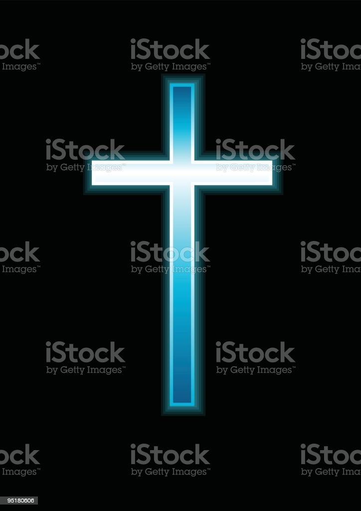 Glowing cross royalty-free stock vector art