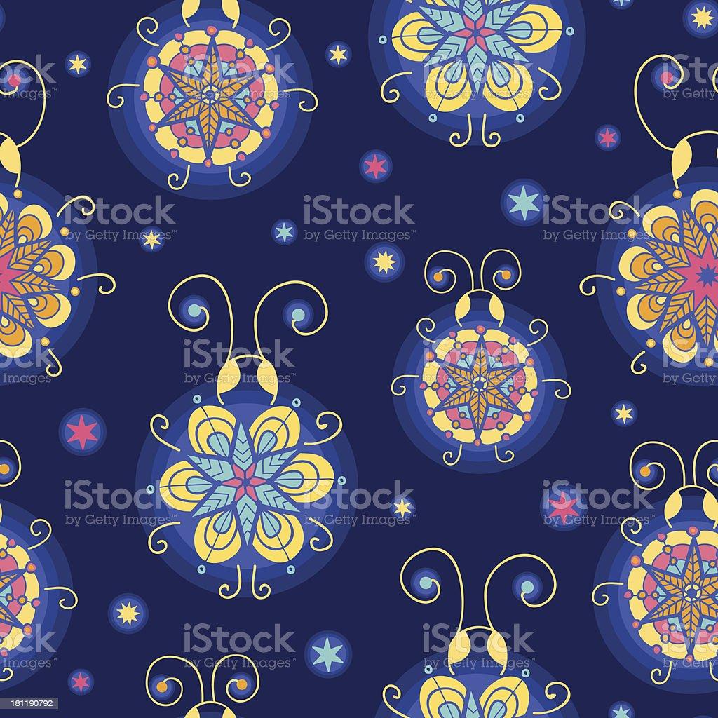 Glowing fireflies seamless pattern background royalty-free stock vector art