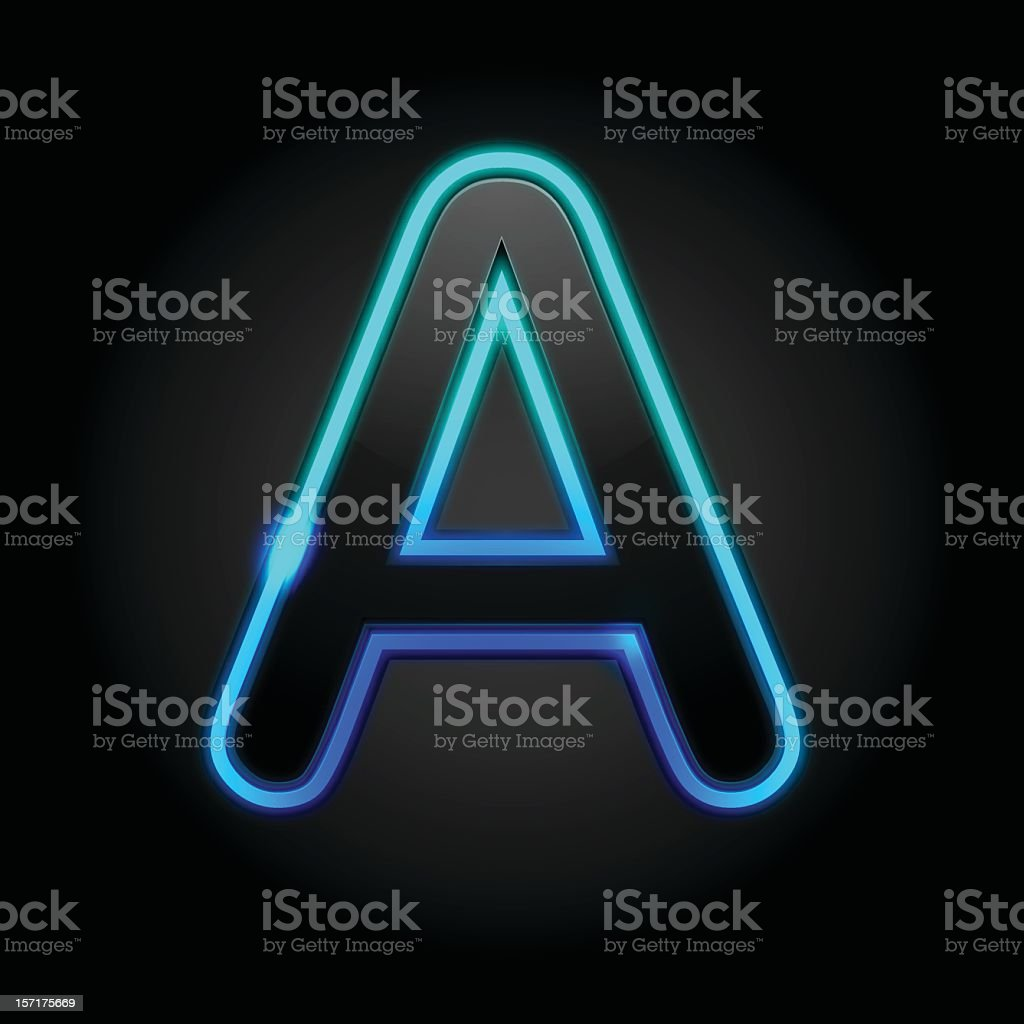 Glowing Font - A stock photo