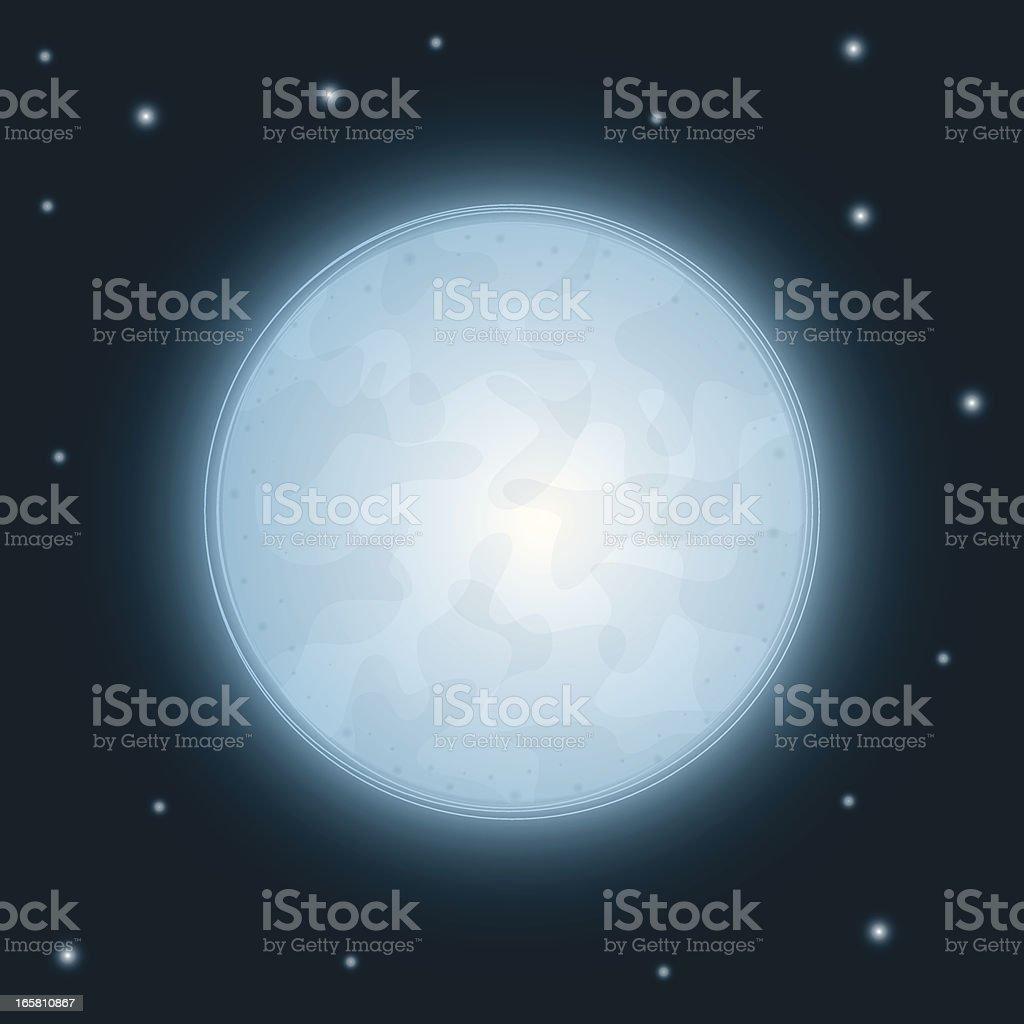Glowing Moon royalty-free stock vector art