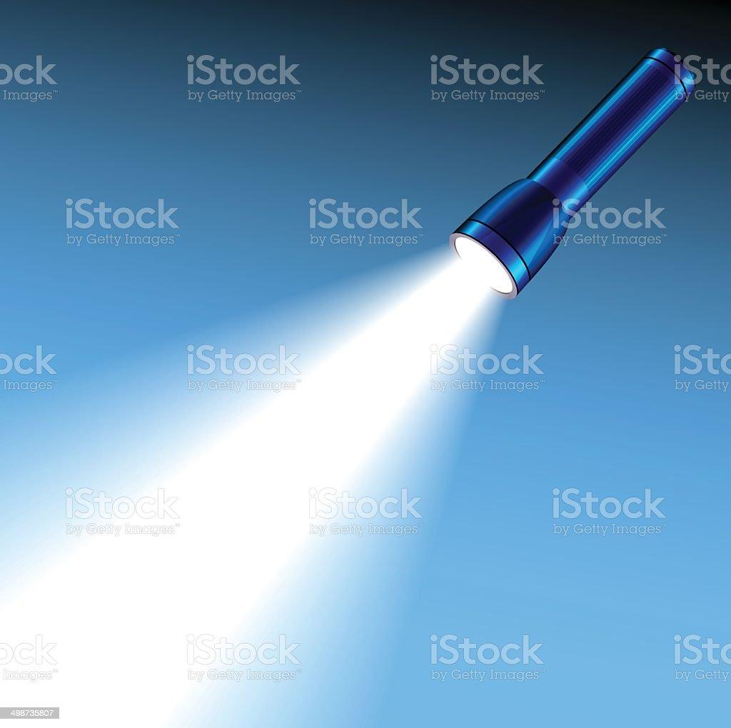 Glowing pocket torch light vector art illustration