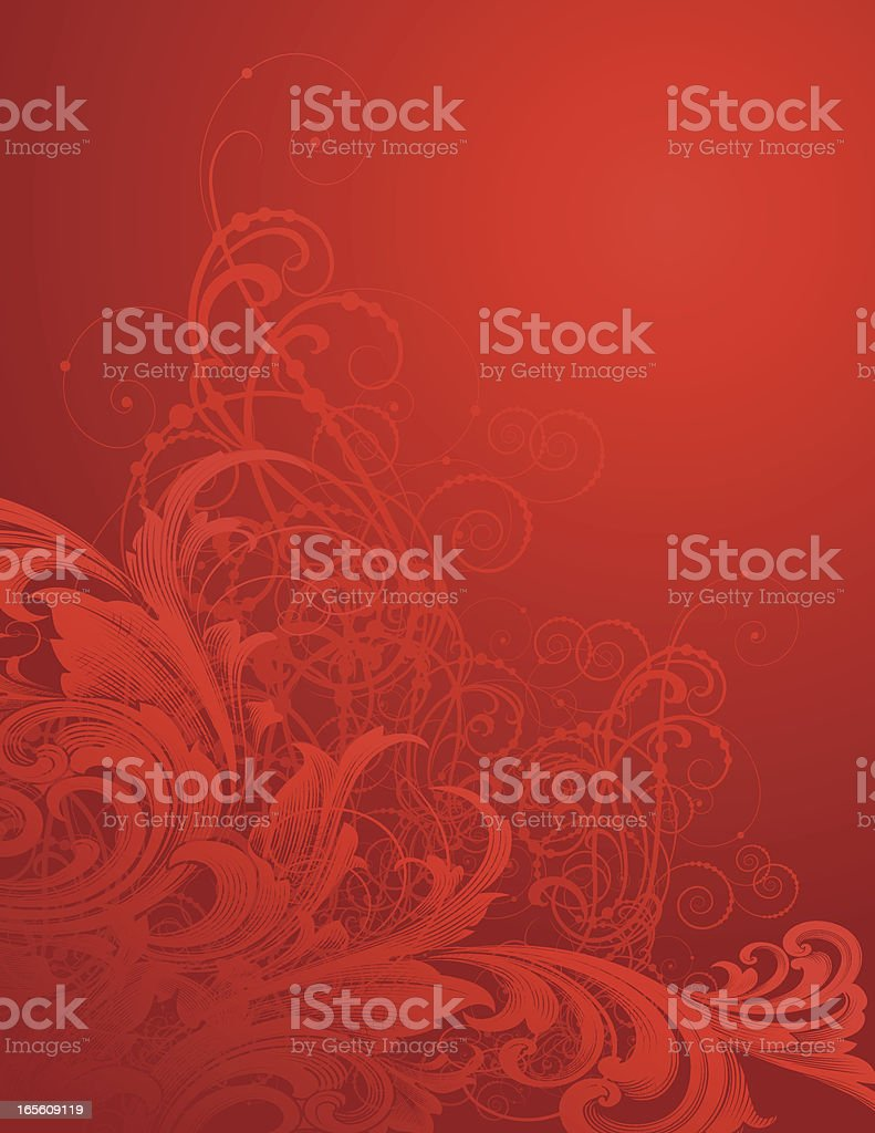 Glowing Red Christmas Background vector art illustration