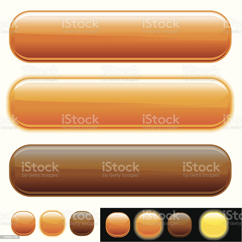 Glowing Rollover Buttons vector art illustration