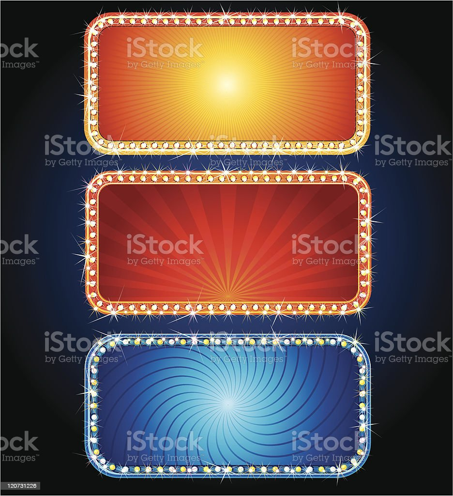 Glowing Signs royalty-free stock vector art