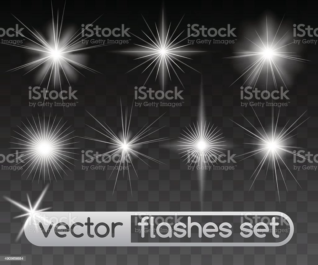 Glowing stars vector art illustration