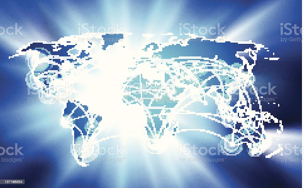 Glowing Vector global network connection concept royalty-free stock photo