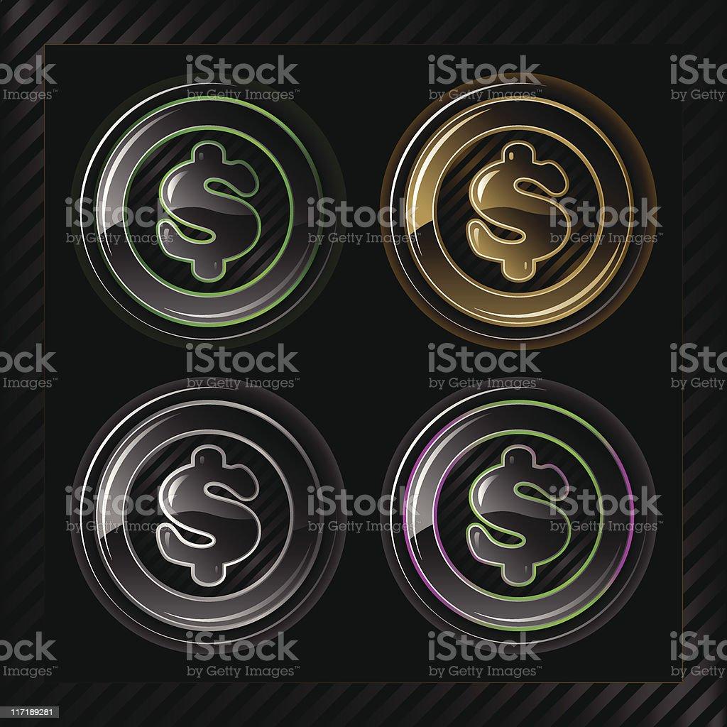 Glowlucent Series: Dollar Sign royalty-free stock vector art