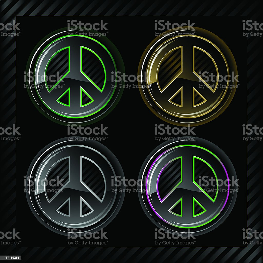 Glowlucent Series: Peace Signs royalty-free stock vector art