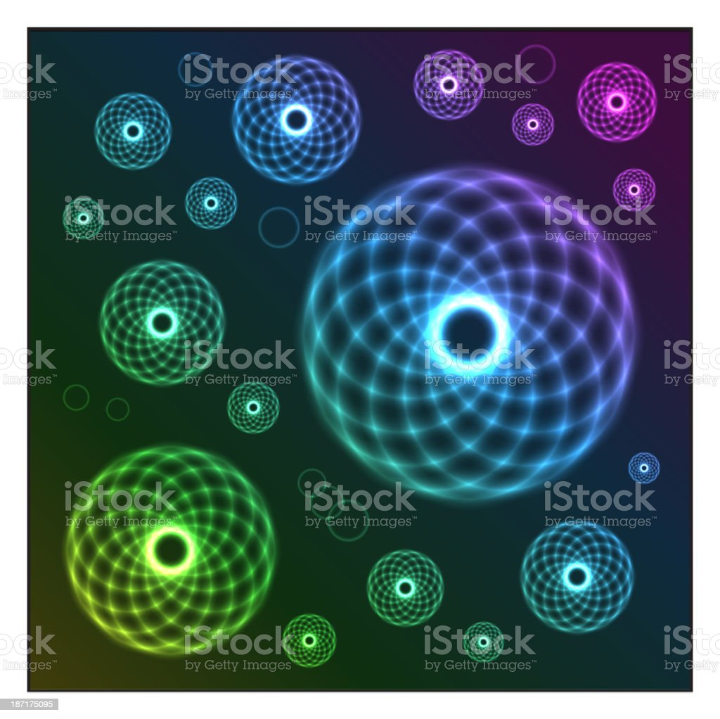 Glow-wire balls royalty-free stock vector art