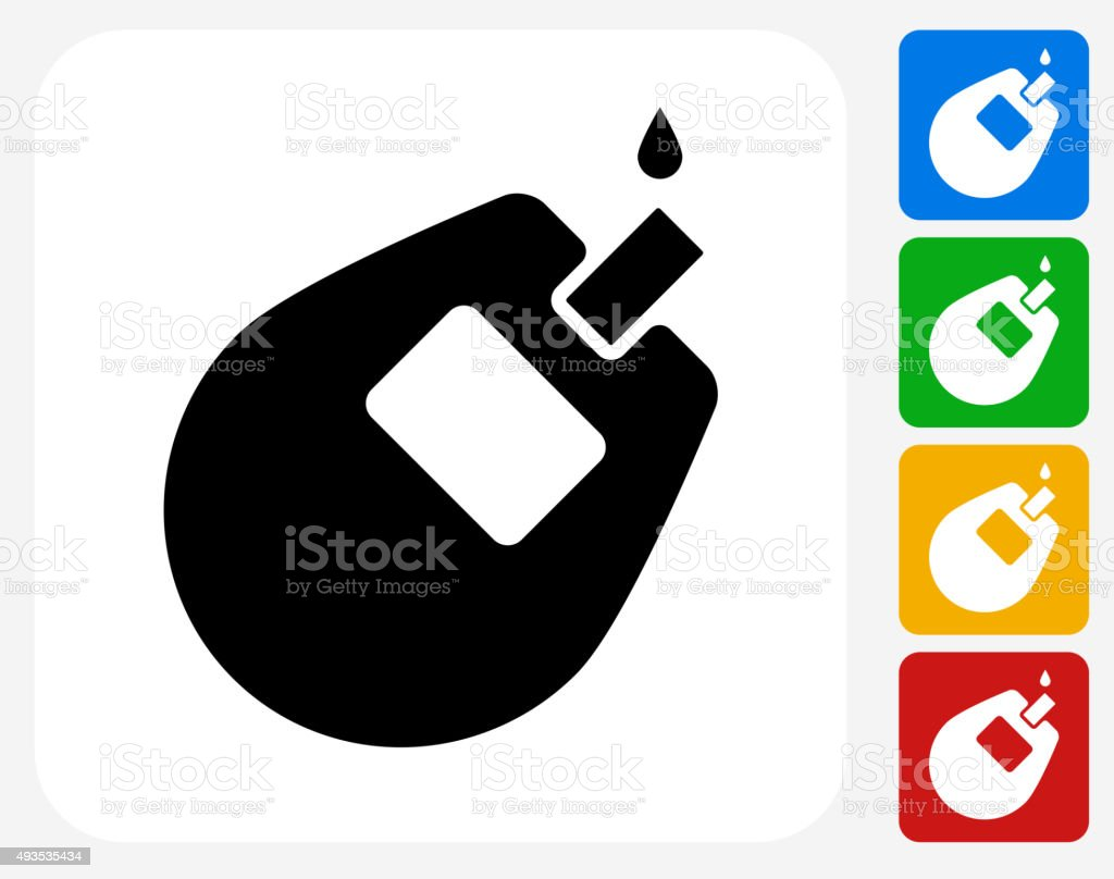 Glucose Monitor Icon Flat Graphic Design vector art illustration
