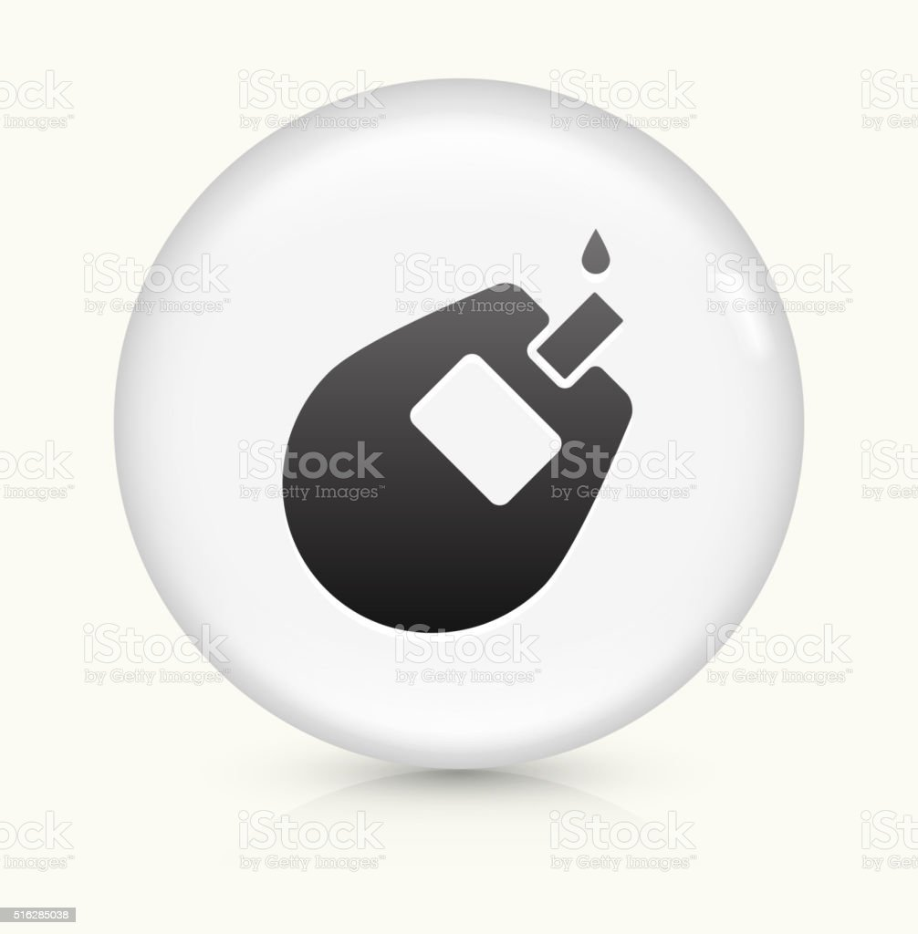 Glucose Monitor icon on white round vector button vector art illustration