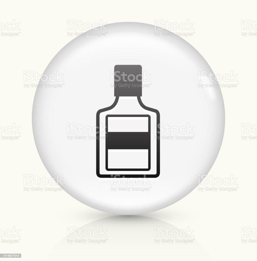 Glue Bottle icon on white round vector button vector art illustration