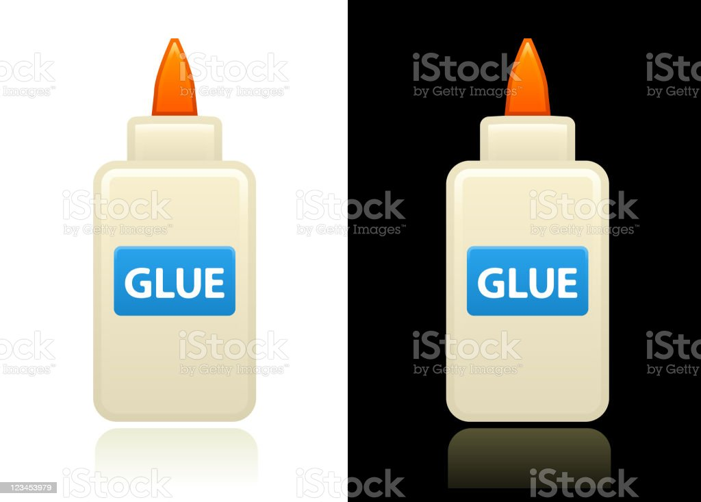 glue design on black and white backgrounds vector art illustration