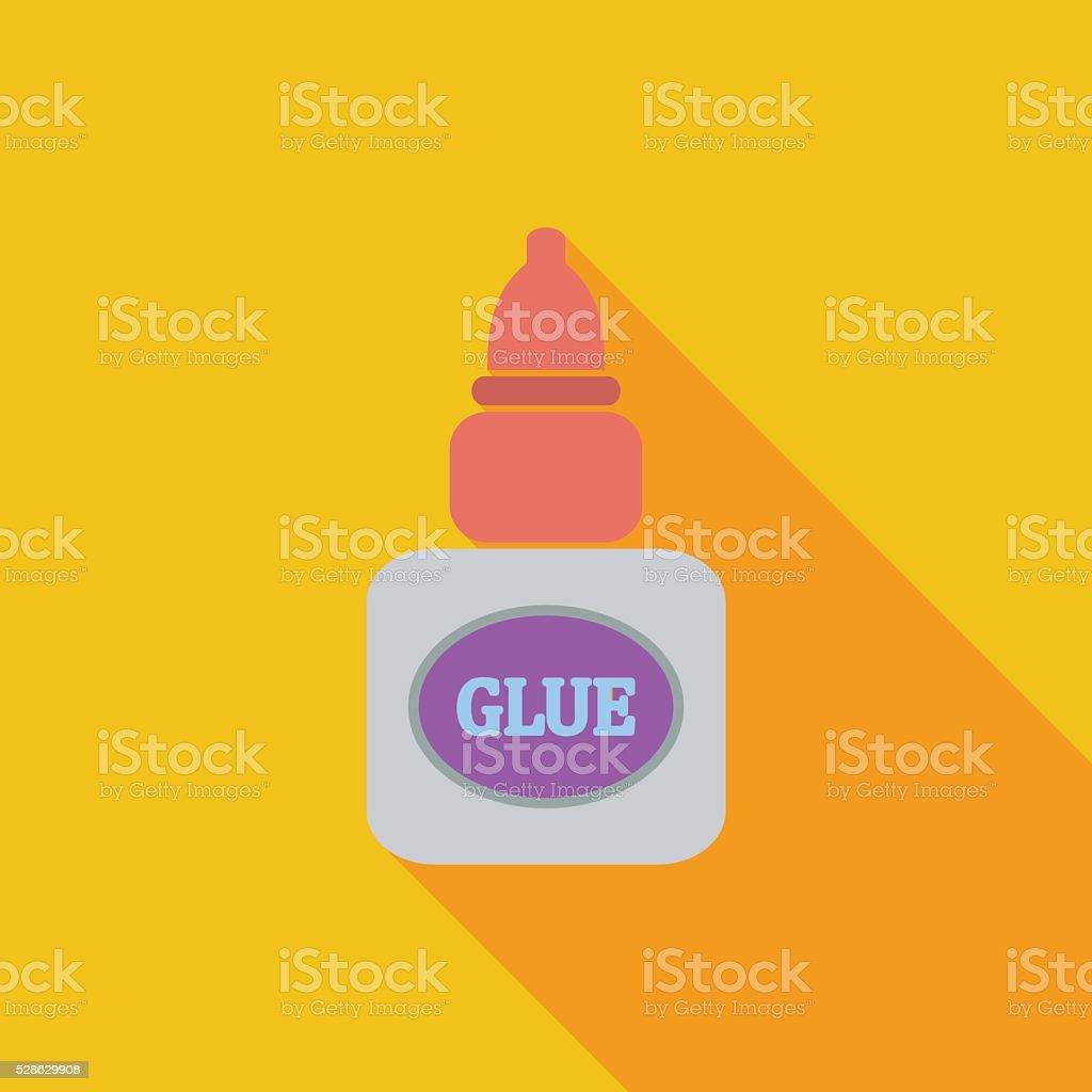 Glue flat icon vector art illustration