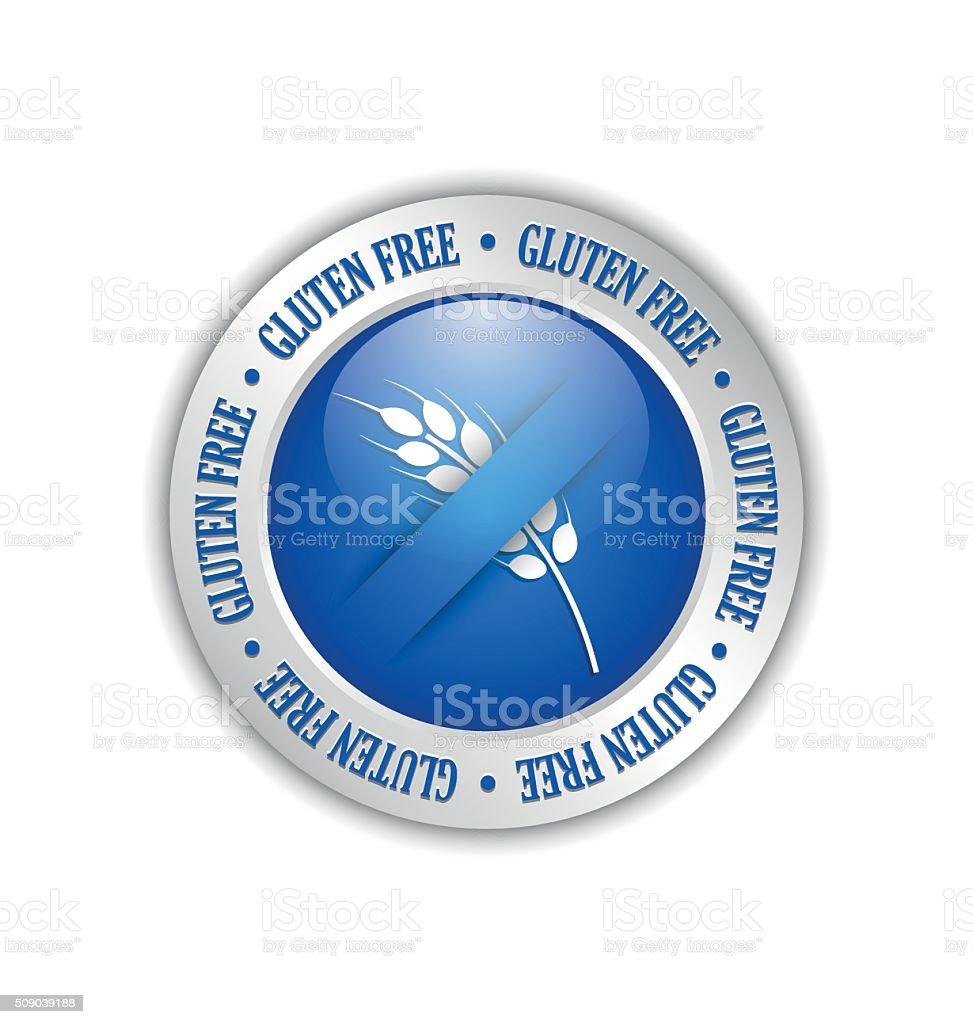 Gluten free badge vector art illustration