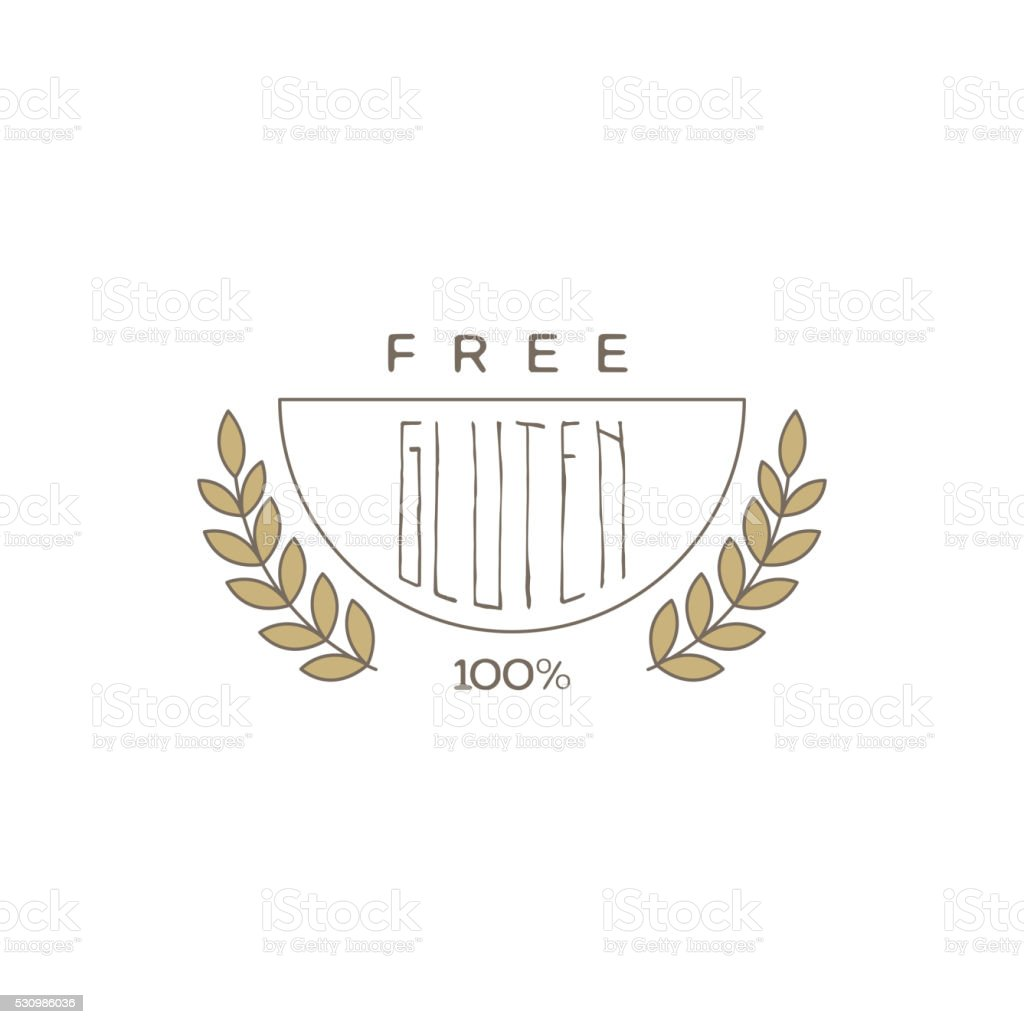 Gluten Free Product Label vector art illustration