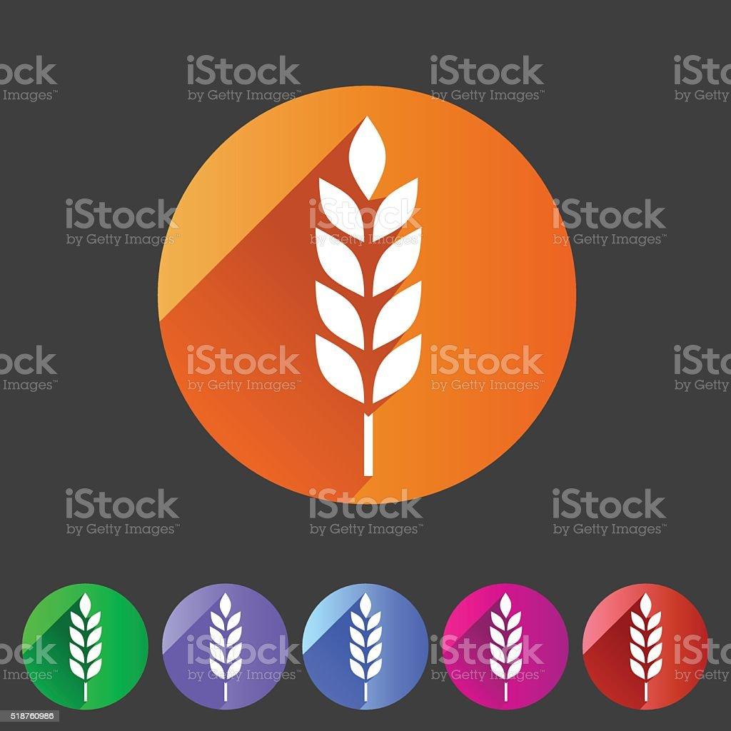 Gluten free vector icon flat web sign symbol logo label vector art illustration