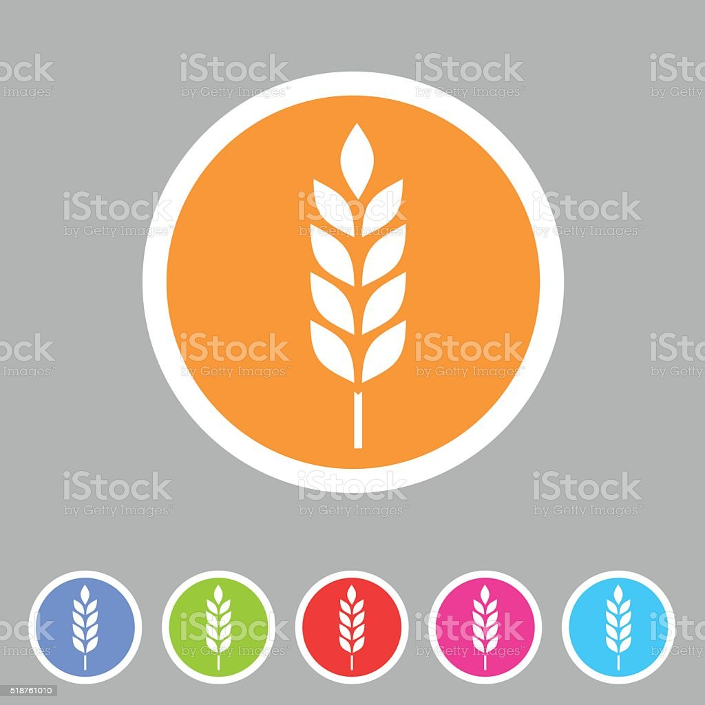 Gluten free vector icon flat web sign symbol logo label vector art illustration