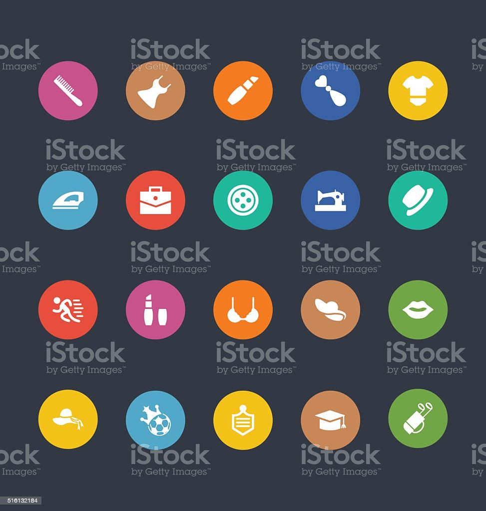Glyphs Colored Vector Icons 45 vector art illustration