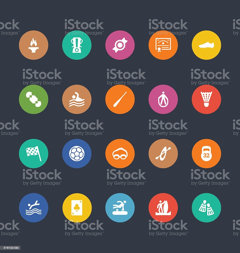 Glyphs Colored Vector Icons 46 vector art illustration