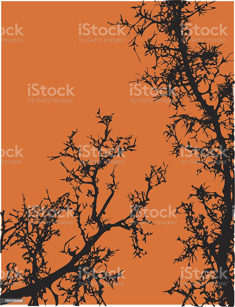 Gnarly Trees Vector royalty-free stock vector art