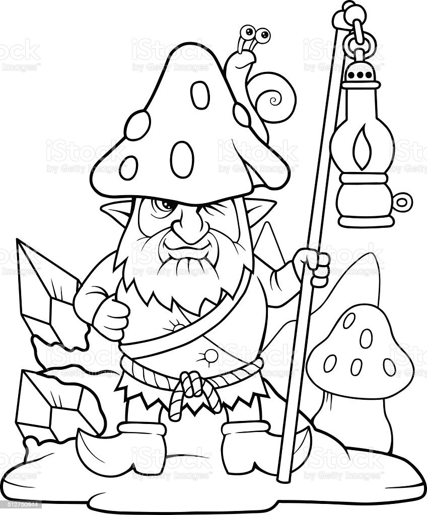 gnome vector art illustration