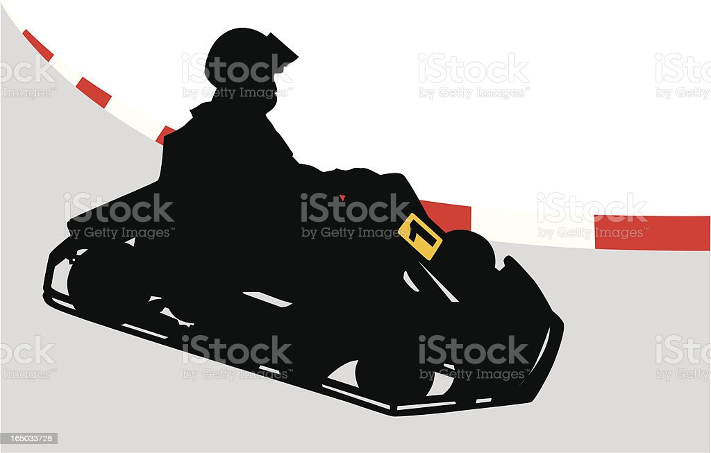 Go Cart Fun royalty-free stock vector art