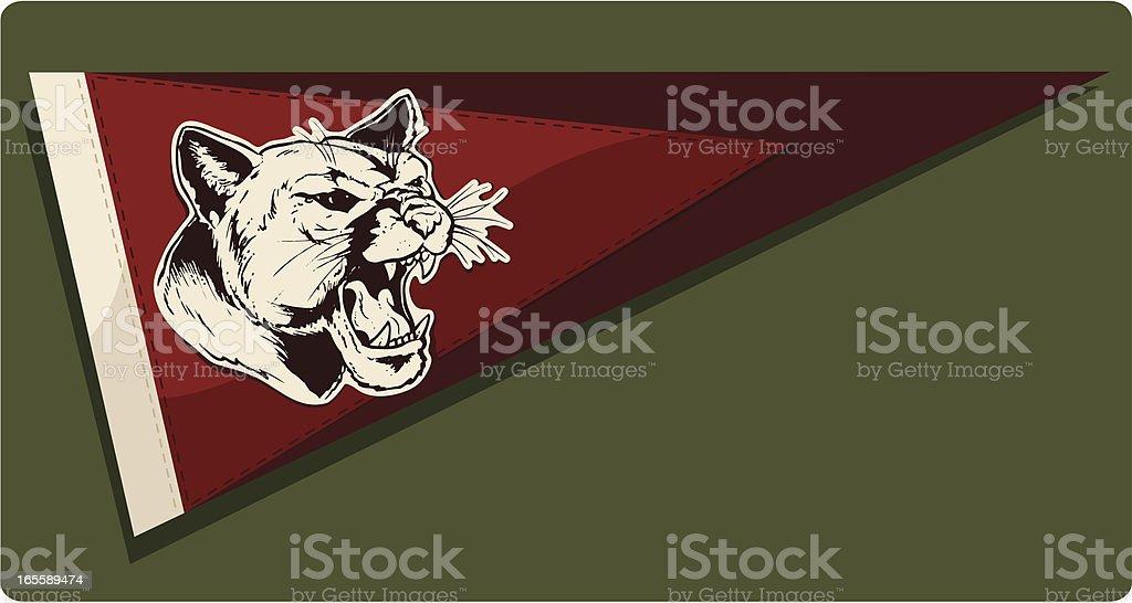 Go Cougars vector art illustration