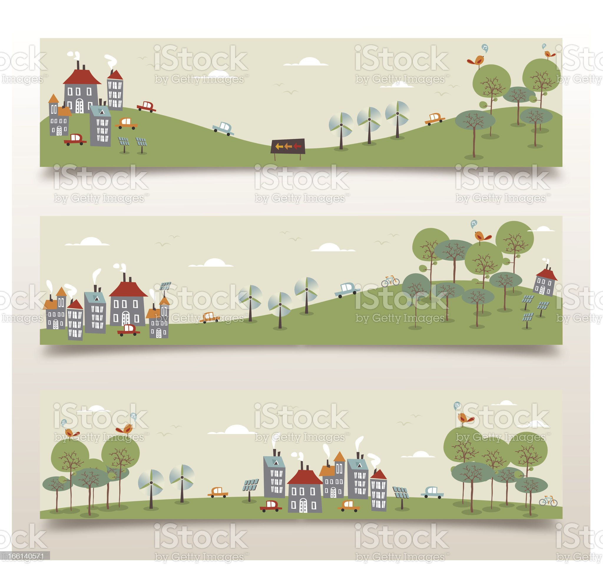Go green banner set royalty-free stock vector art
