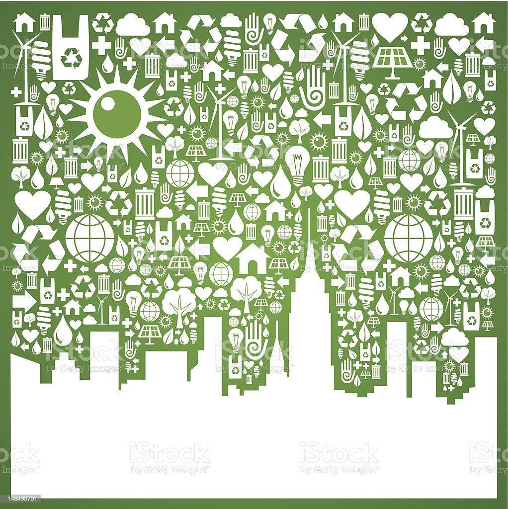 Go green city background royalty-free stock vector art